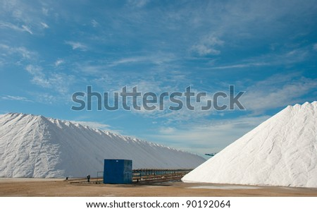 Modern salt refinery at its peak production