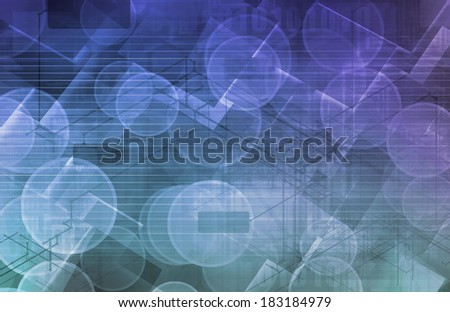 Modern Science as a Corporate Background Art - stock photo