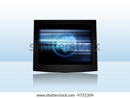 Modern Screen - stock photo