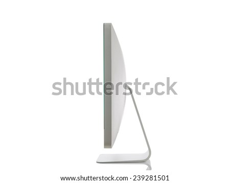 Modern Screen Monitor isolated on white background - stock photo