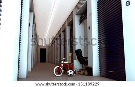 modern self storage  - stock photo