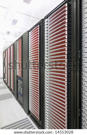 Modern server room - stock photo