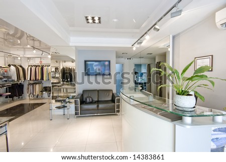 modern shop interior - stock photo