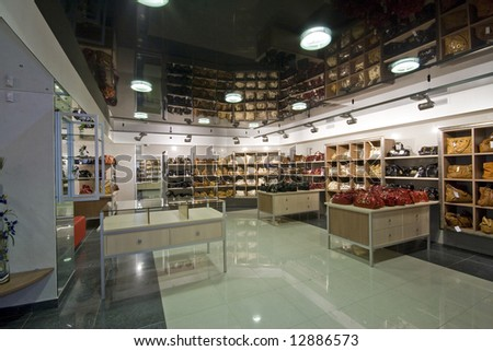 modern shop interior image - stock photo