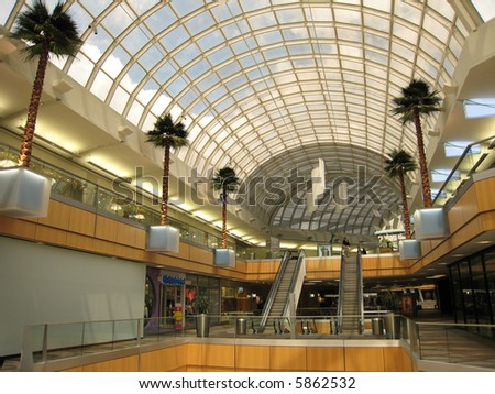 Modern Shopping Center in US - stock photo