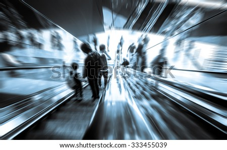 Modern Shopping mall for background - stock photo
