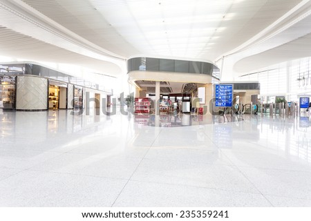 modern shopping mall interior - stock photo
