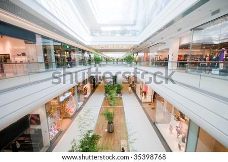 Modern shopping mall. Shopping centre - stock photo