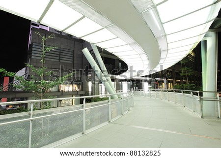 modern sky-bridge - stock photo
