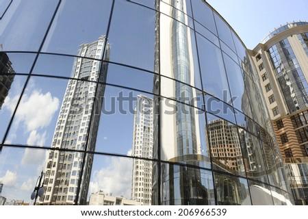 modern skyscraper in  Kiev. - stock photo