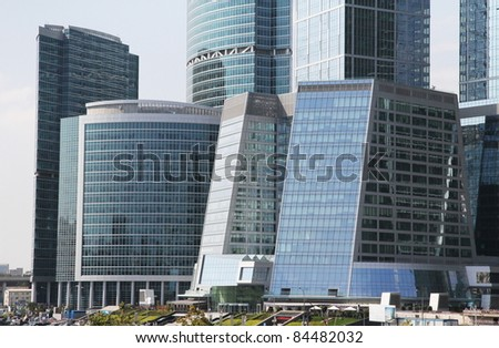 modern skyscraper in moscow downtown - stock photo