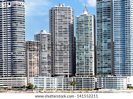 Modern skyscrapers in Panama City - stock photo
