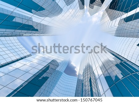 Modern Skyscrapers on sky background