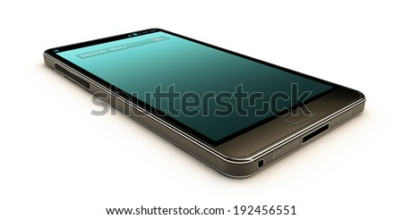 modern smartphone isolated on white background - stock photo
