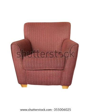 Modern sofa armchair isolated on white background