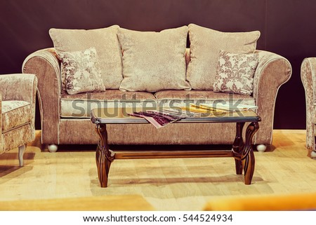 Modern Sofa For The Living Room, Note Shallow Depth Of Field