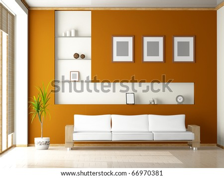 modern sofa  in the  room - stock photo
