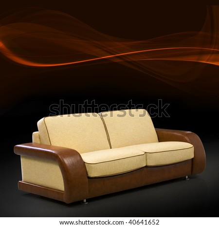 Modern sofa with fantastic background - stock photo