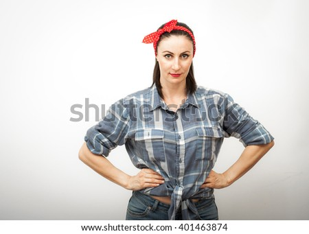 Modern Spin On Rosie Riveter Cultural Stock Photo Download Now