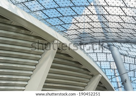 Modern Stadium Architecture as Symbol of Corporate Identity - stock photo