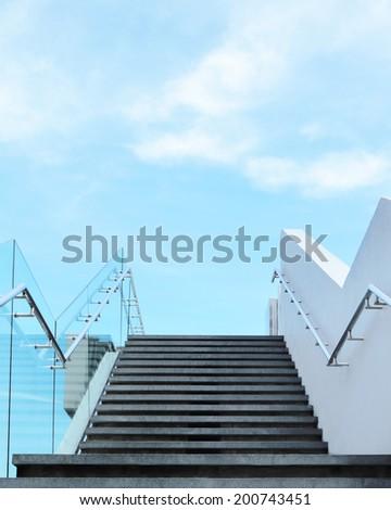 Modern Staircase - stock photo