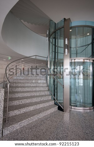 modern staircase - stock photo