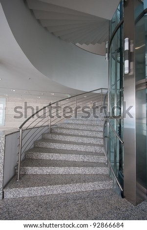 modern staircase in a building - stock photo
