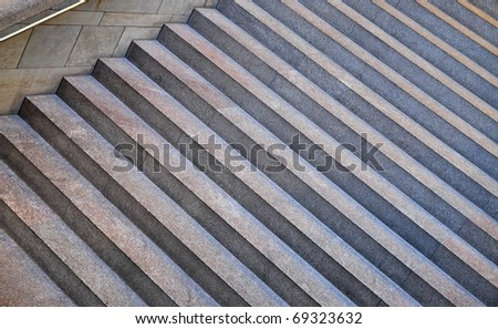 Modern staircase made of granite - stock photo