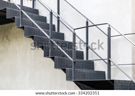 Modern stairs - stock photo