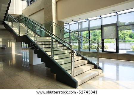 Modern stairs in a building - stock photo