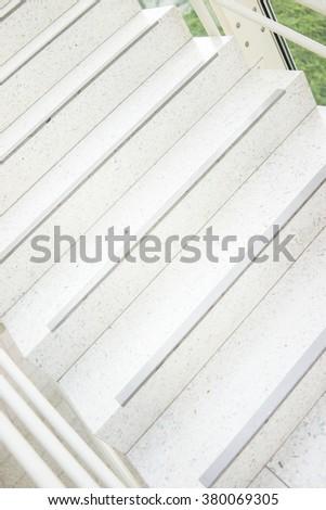 Modern stairs in glass corridor - stock photo