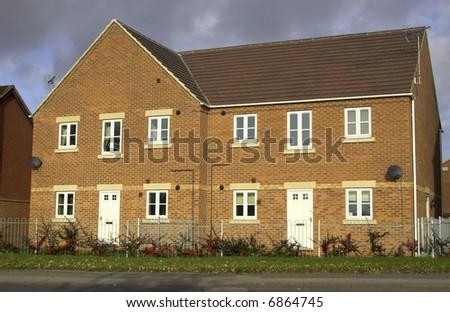 Modern Starter Homes - stock photo