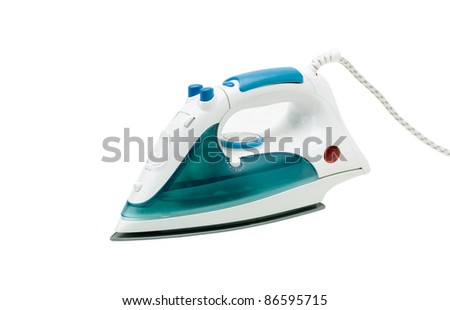 Modern steam iron the new technology for ironing - stock photo