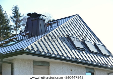 Metal Roof House Stock Images RoyaltyFree Images Vectors