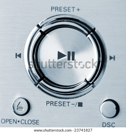 modern stereo systems buttons (shallow DOF) - stock photo