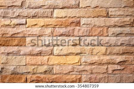Modern stone brick wall background. Stone texture - stock photo