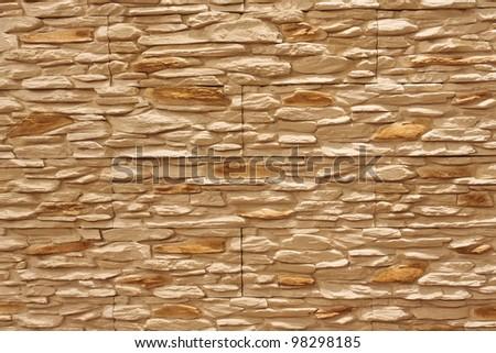 Modern stone wall decoration - stock photo
