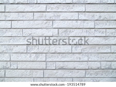 modern stone white brick wall texture and background