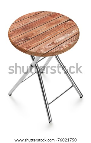 Modern stool chair seat furniture white isolated - stock photo