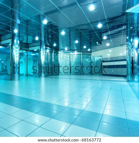 modern store inside office center - stock photo