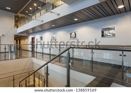 Modern structure of a new office building - stock photo