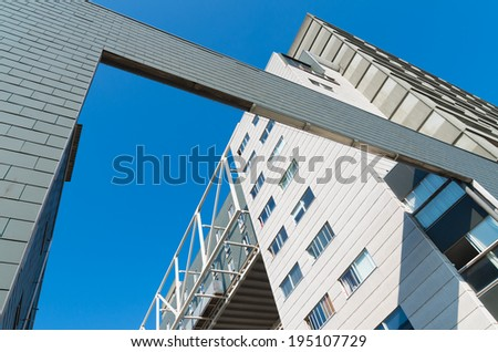 modern student apartments at the University Campus The Uithof in Utrecht, netherlands - stock photo
