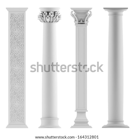 Modern style architectural classic columns - stock photo