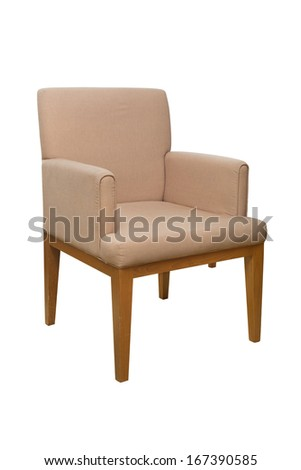 modern style chair with fabric cover - stock photo