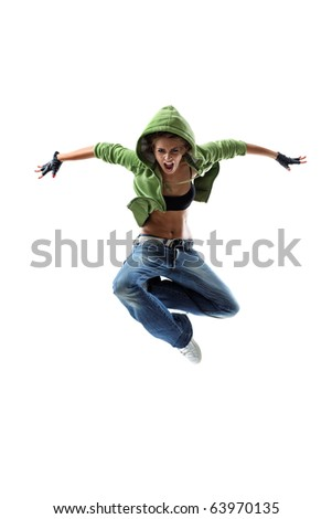modern style dancer posing - stock photo
