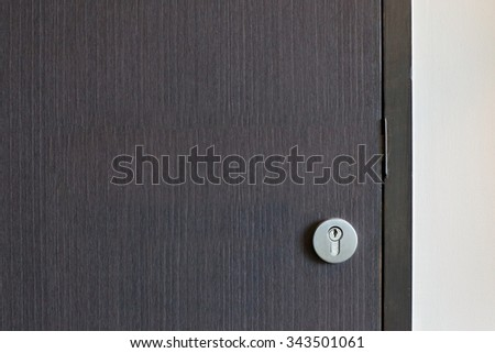 Modern style door made from natural wooden. - stock photo