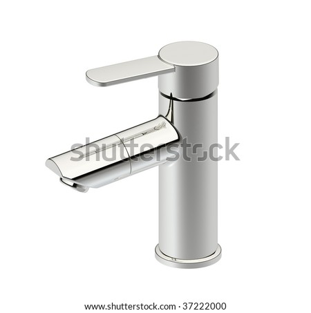 modern style faucet - stock photo