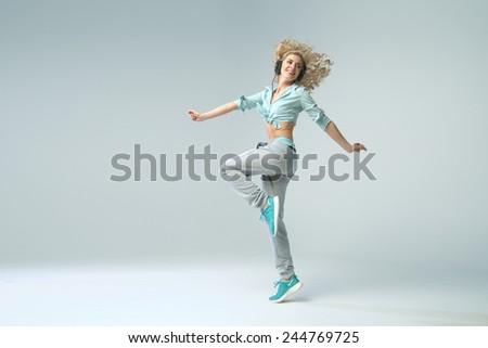 Modern style female dancer - stock photo