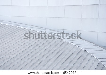 modern style of building roof top