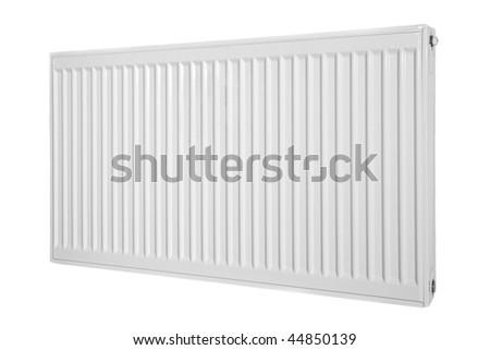 Modern style radiator on a background. - stock photo